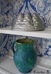 Decorative cake mould and vintage jug