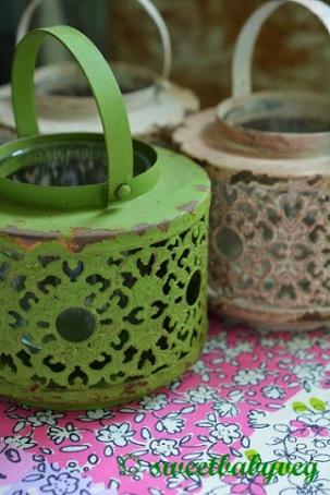 Little Indian lanterns in soft, Neopolitan ice cream shades