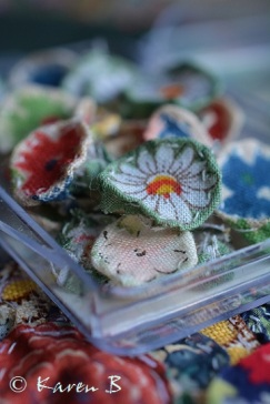 A darling box of tiny flowers ready to make a garden
